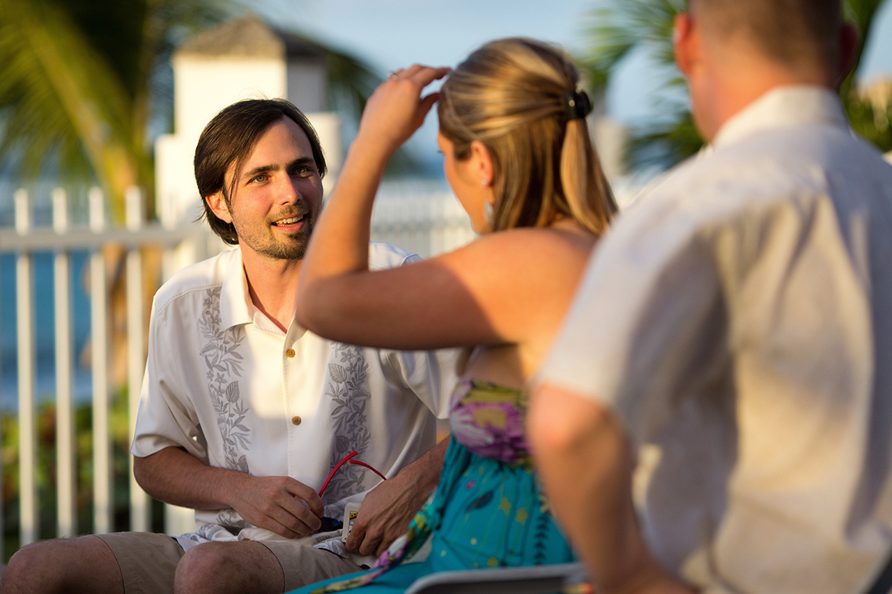 guests at puerto rico beach wedding