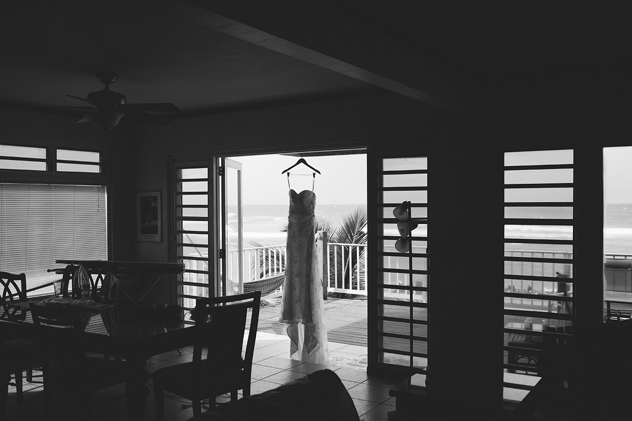 dress shot for puerto rico beach wedding