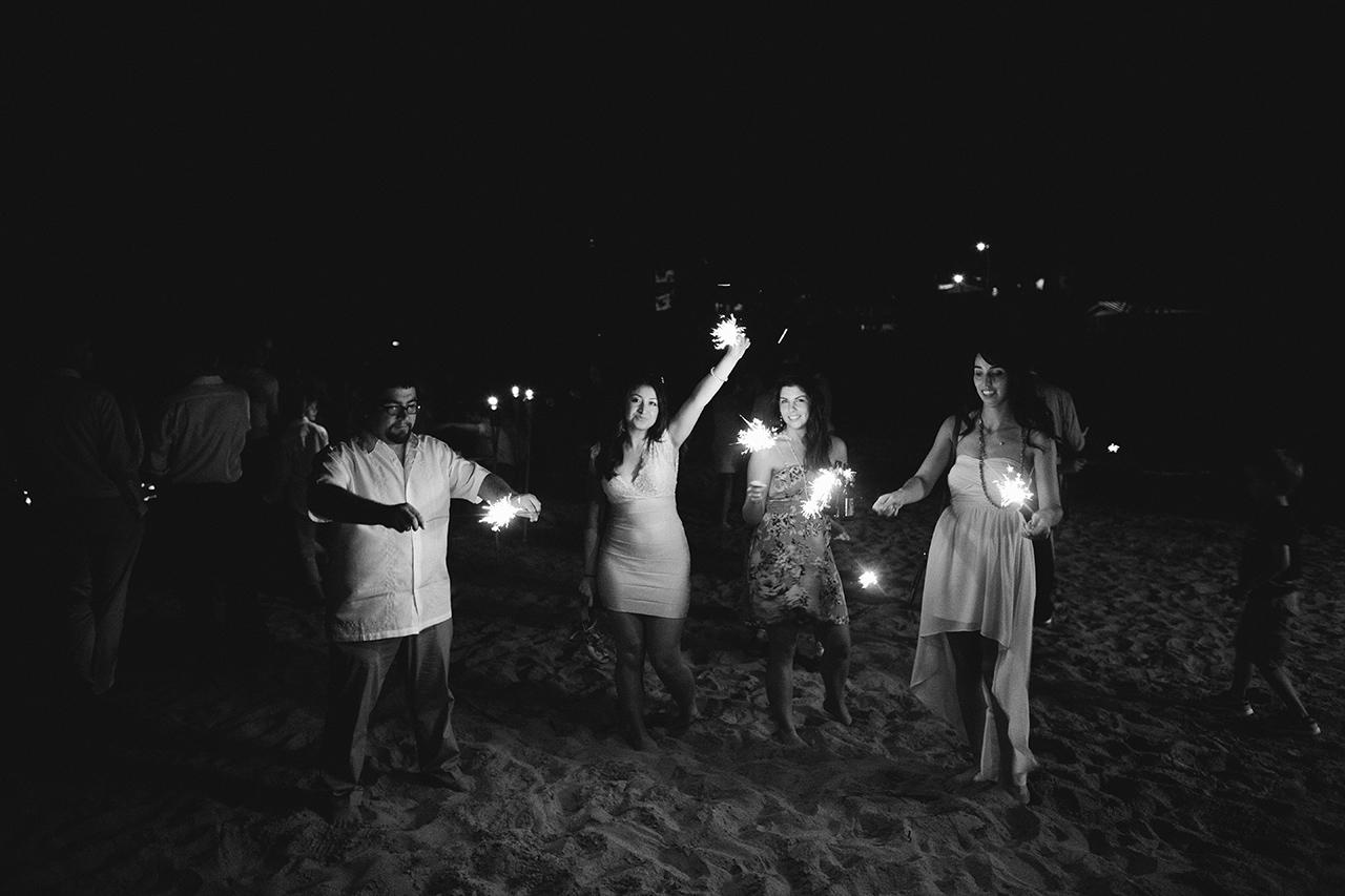 sparklers at villa montana