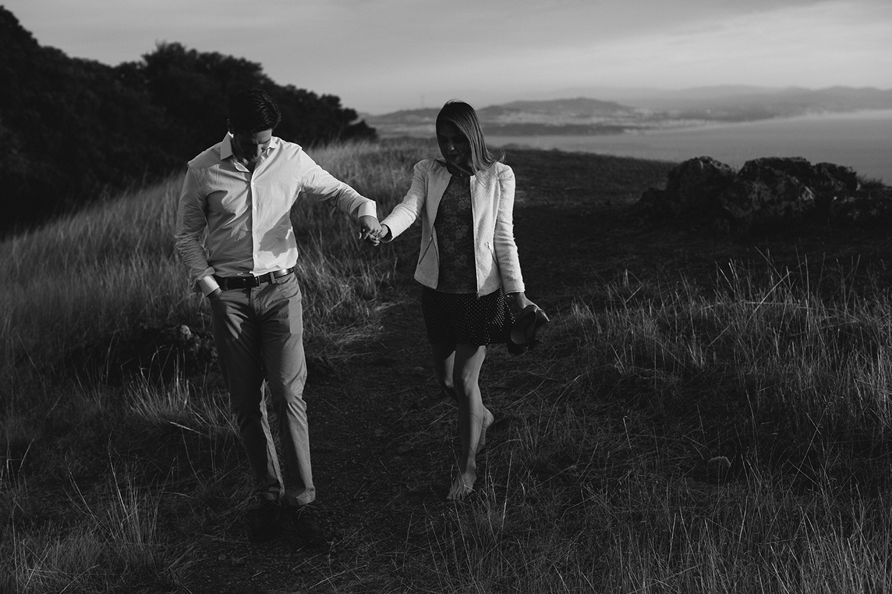 mt tamalpais engagement photos dustin cantrell bw_55