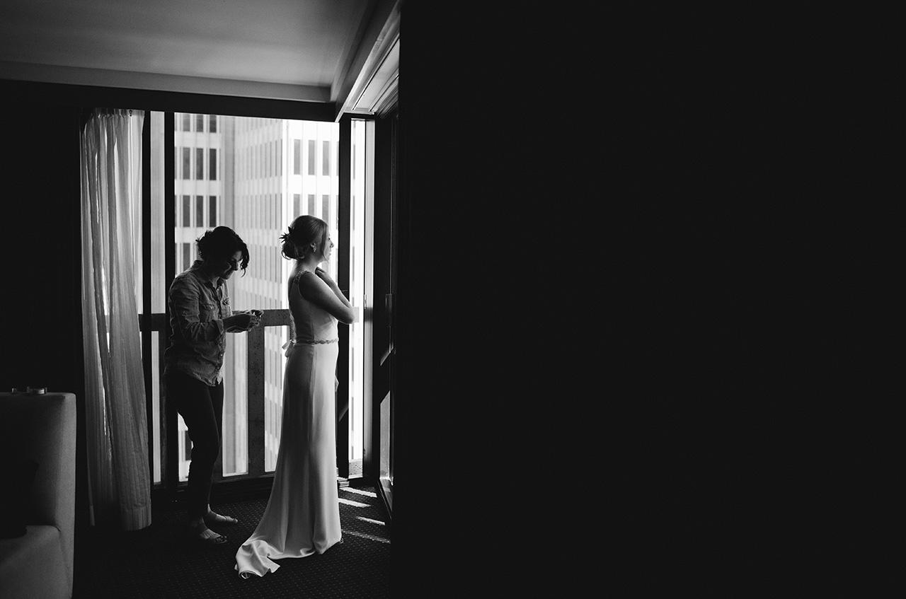 San Francisco Bride Getting Ready