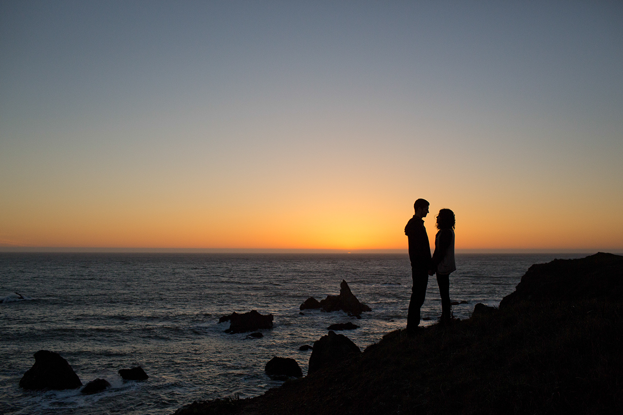 jenner california engagement session
