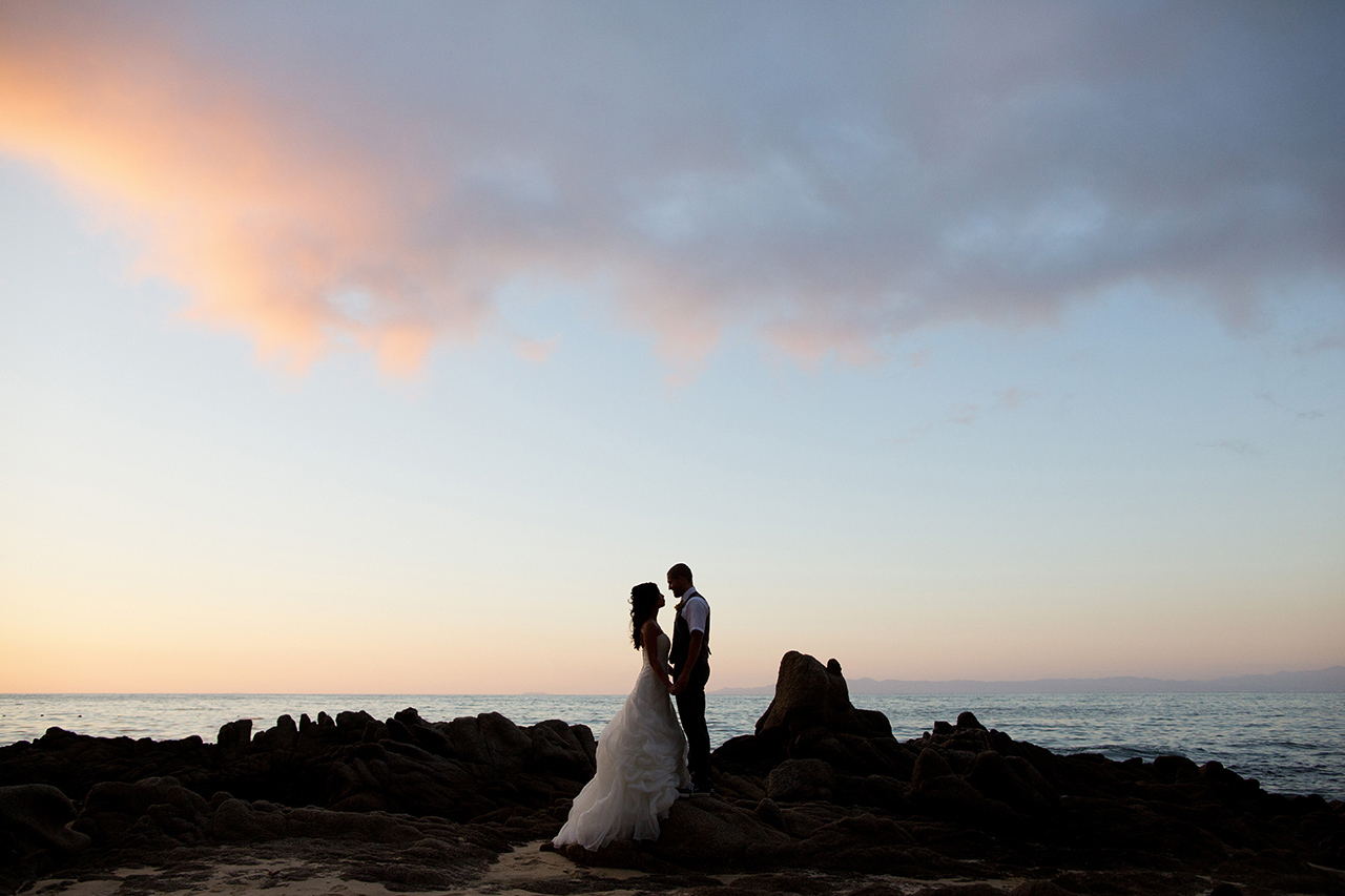 puerto vallarta mexico wedding at sunset