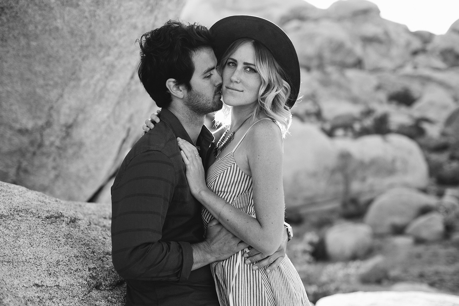 joshua tree engagement photos bw_271