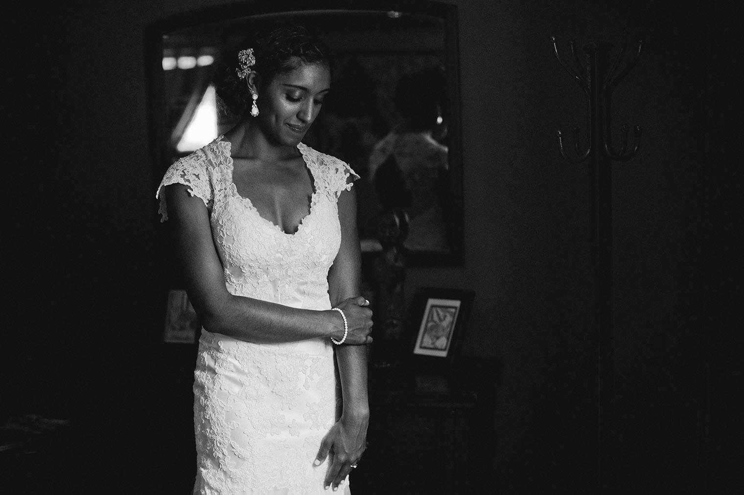 bride getting ready Relais Du Soleil Wedding
