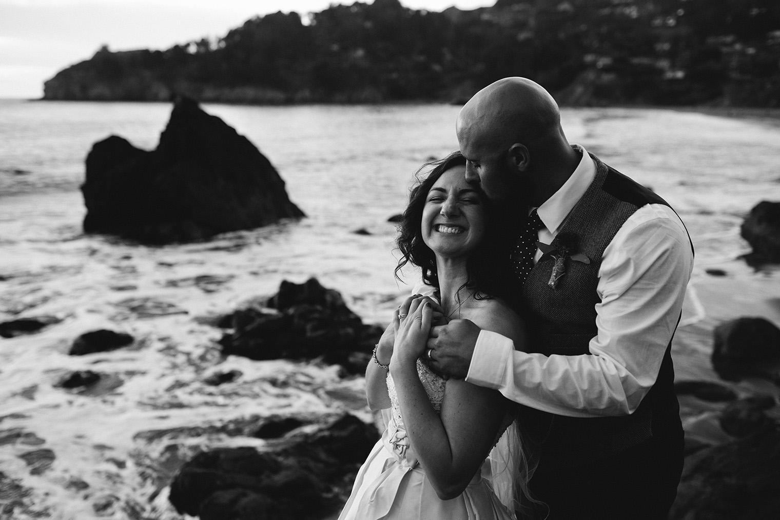 muir beach wedding photo