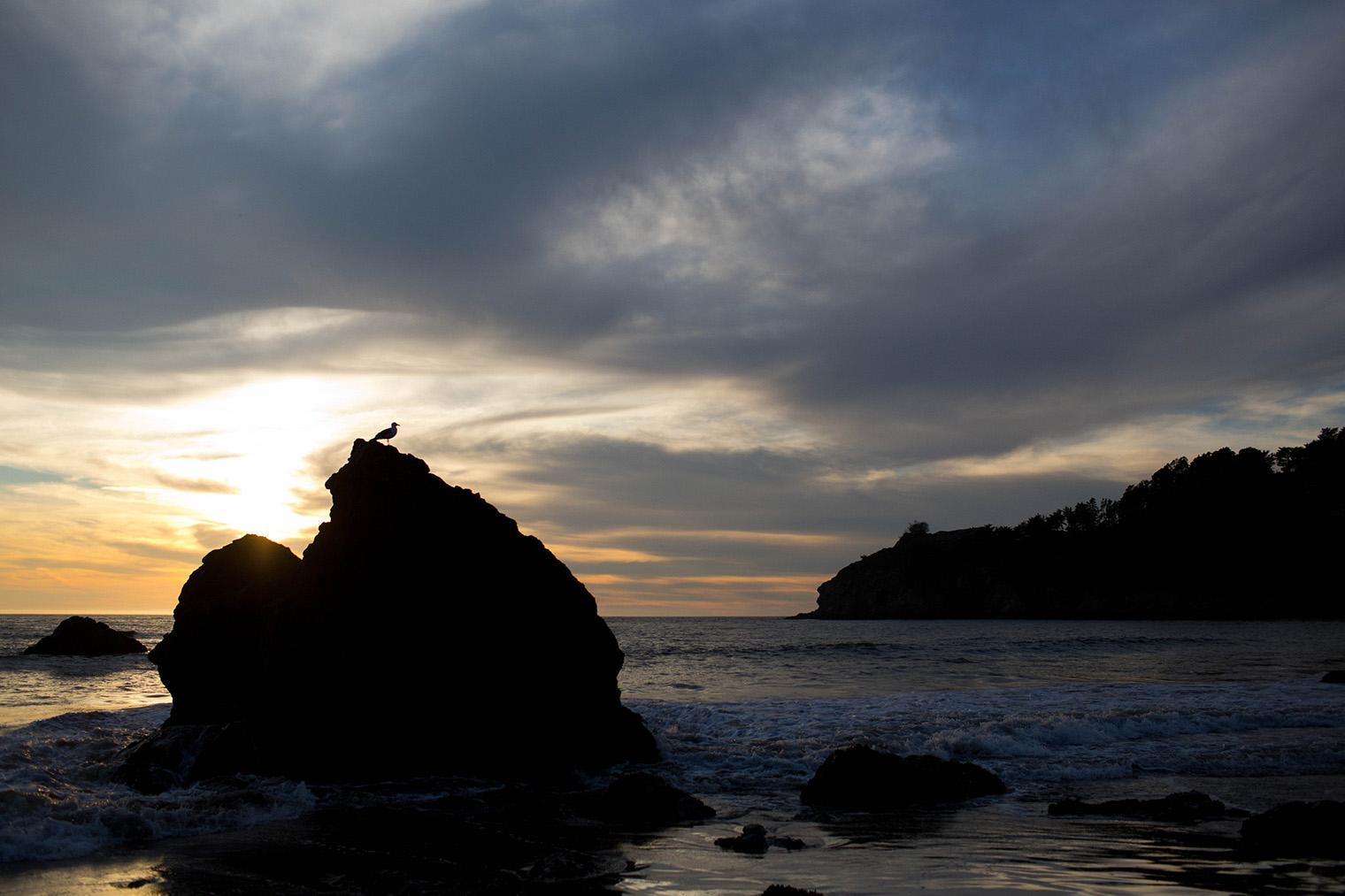 sunset photos at muir beach