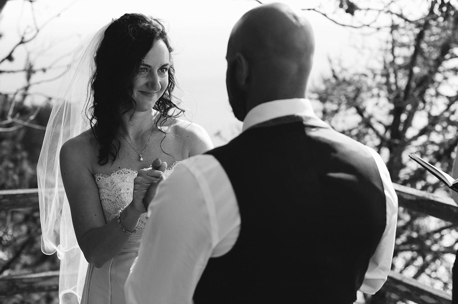 muir beach overlook wedding photos