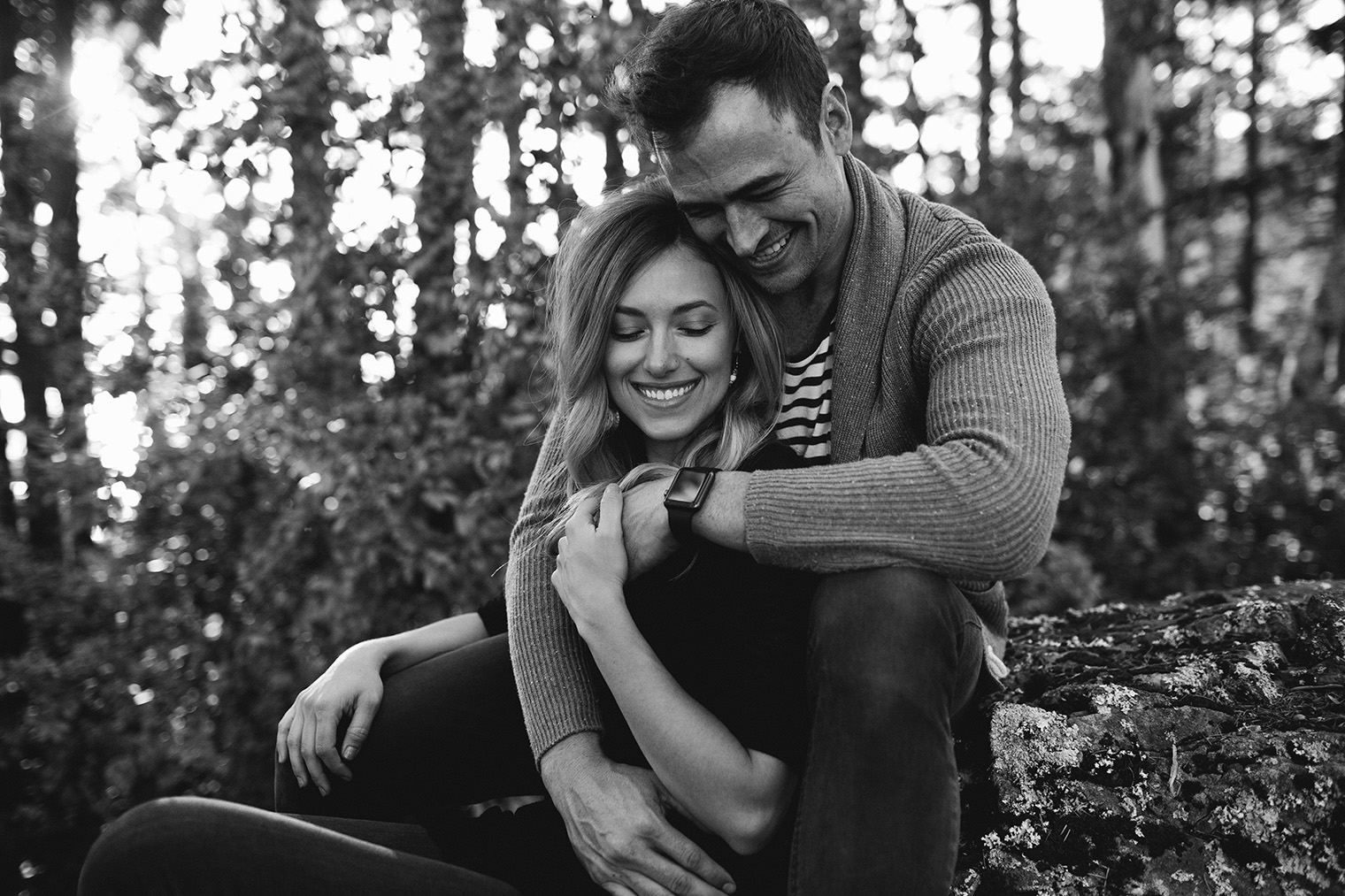 mt tam engagement session bw_86
