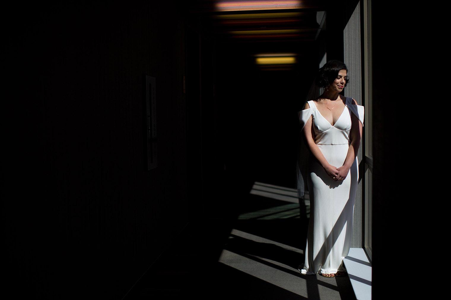 aloft cupertino bride portrait