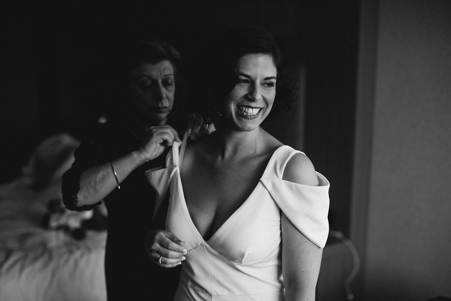 aloft cupertino black and white bride