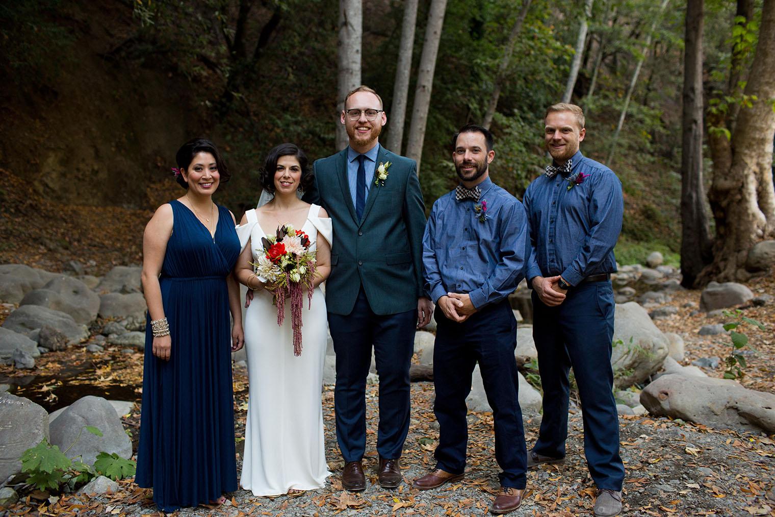 bridal party at Saratoga Springs