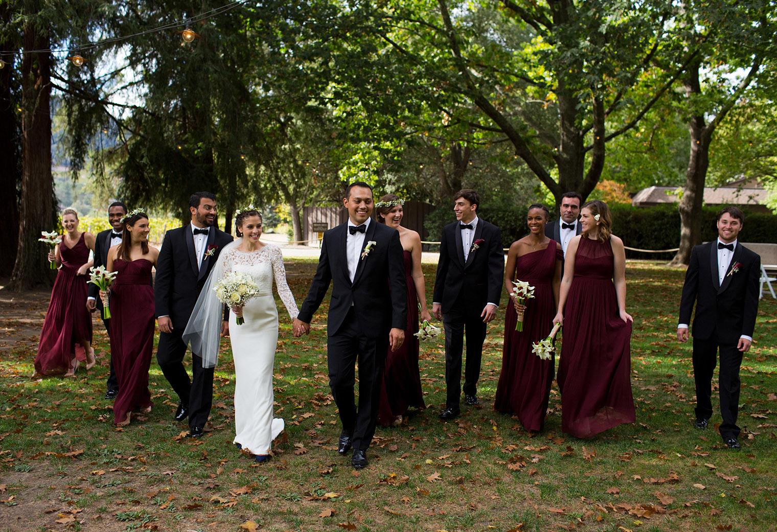 charles krug winery bridal party