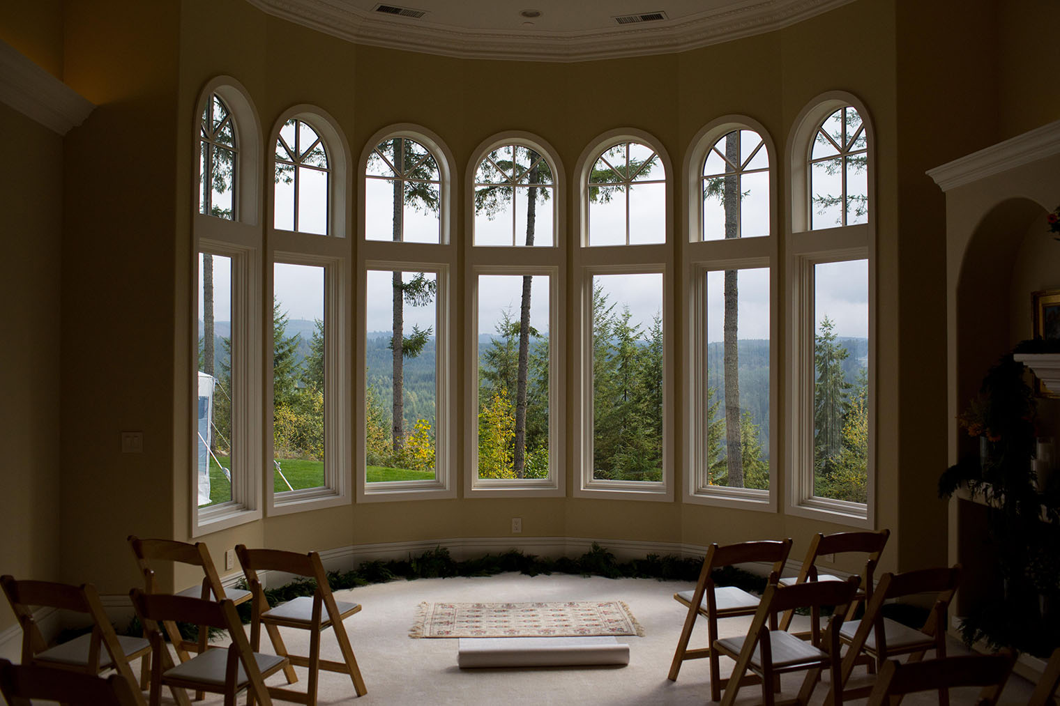 private residence wedding in carnation wa