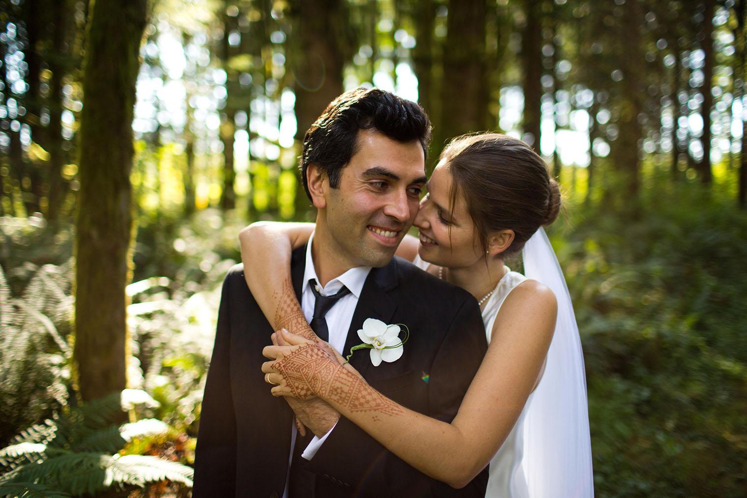 Fall Backyard Seattle Wedding Photos