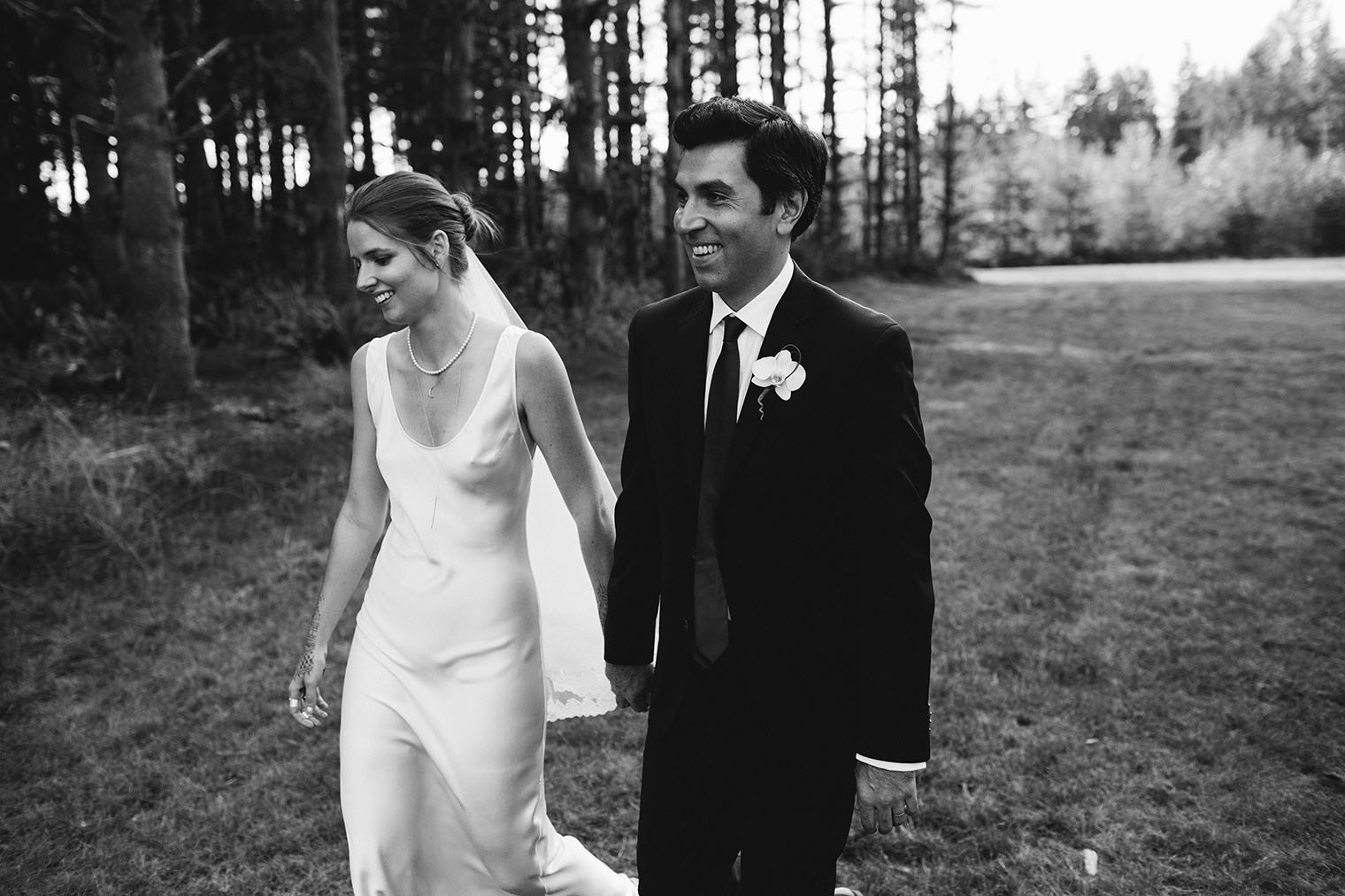 pacific northwest backyard wedding