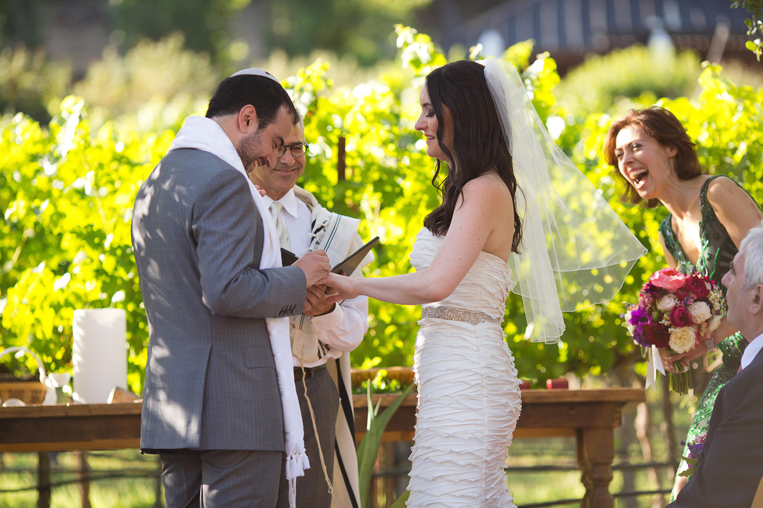 Calistoga Ranch vineyard ceremony