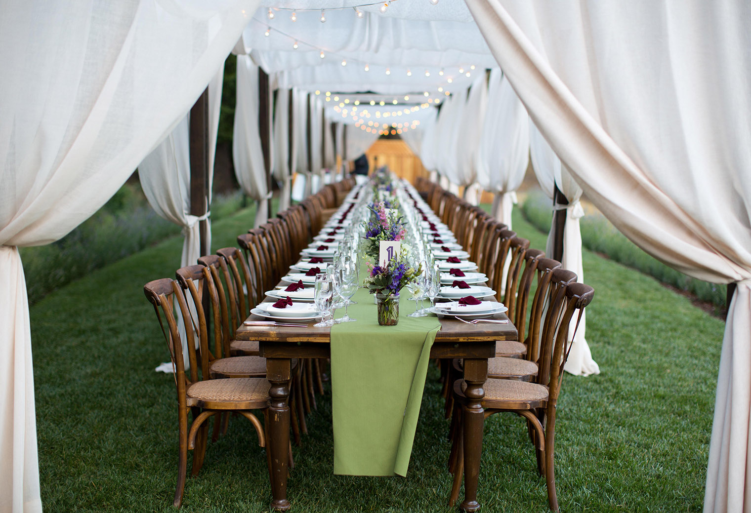 Calistoga Ranch outdoor reception space
