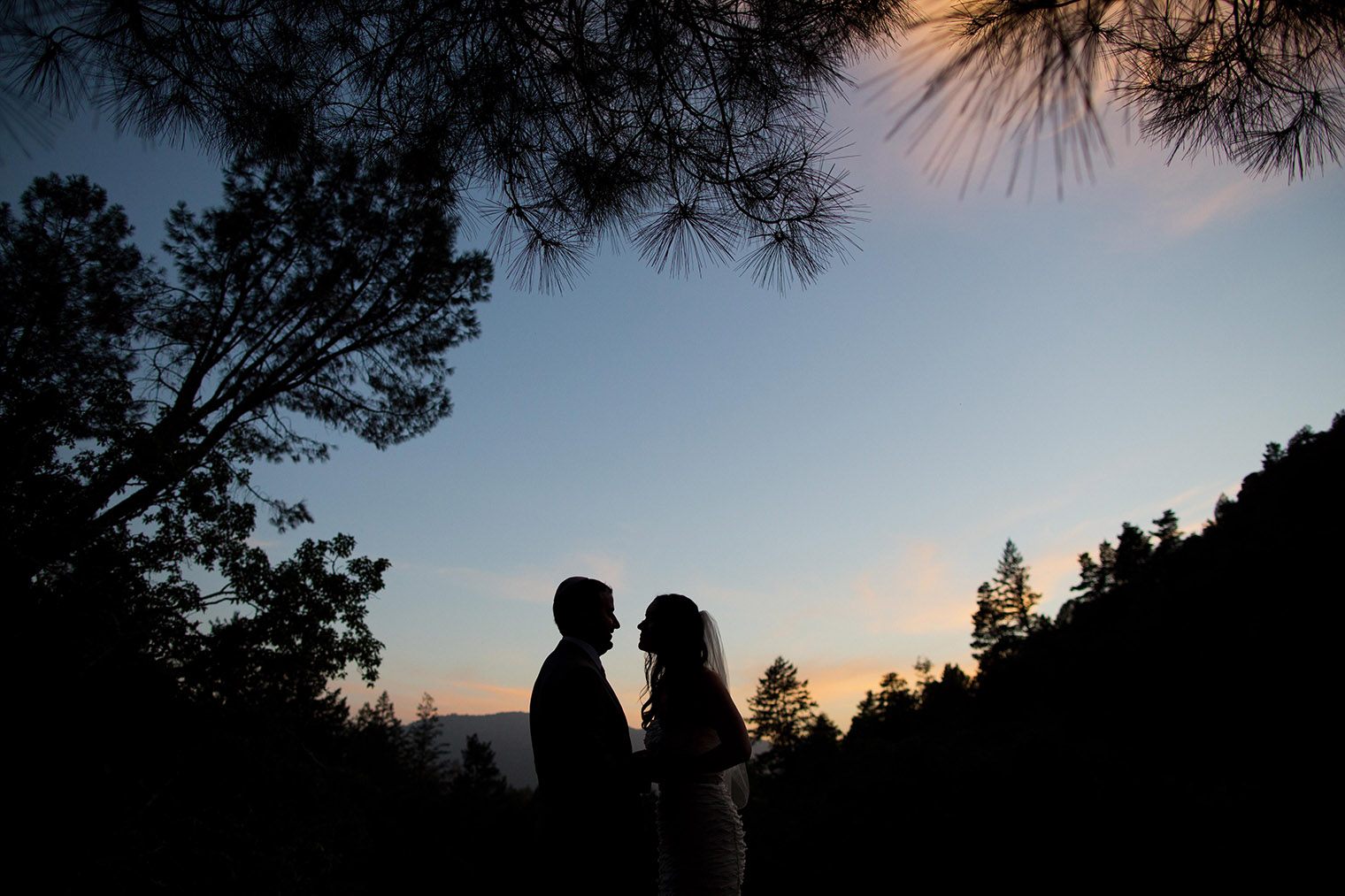 Calistoga Ranch couple portraits