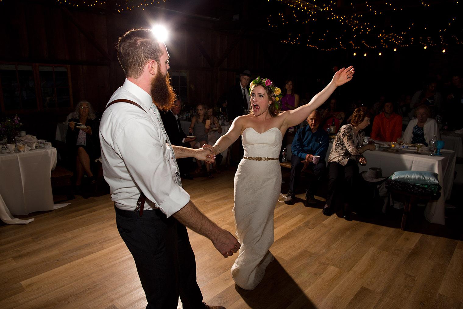 wedding reception photos at OVY Camp