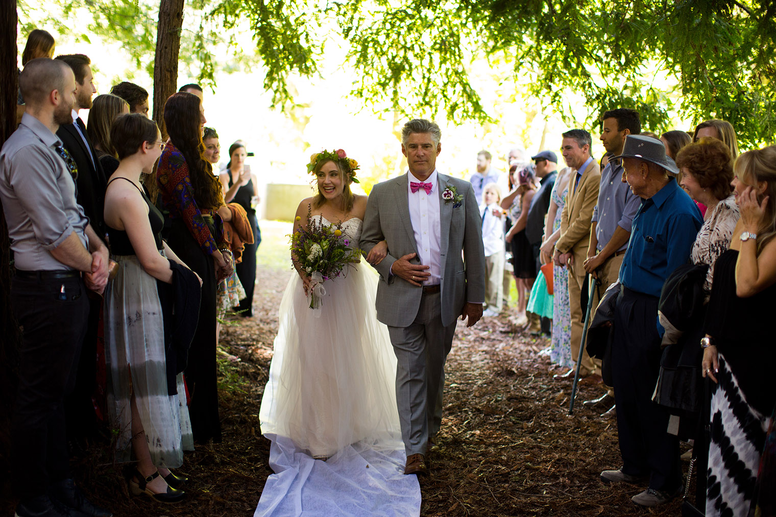 forest camp wedding