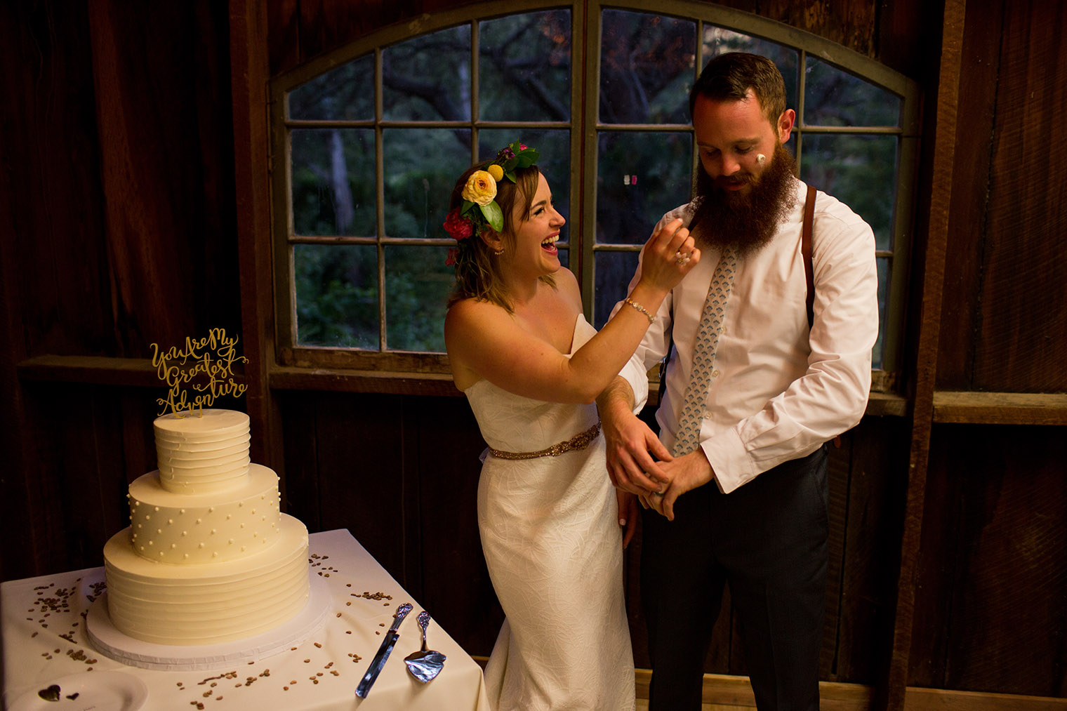 bride and groom at OVY Camp