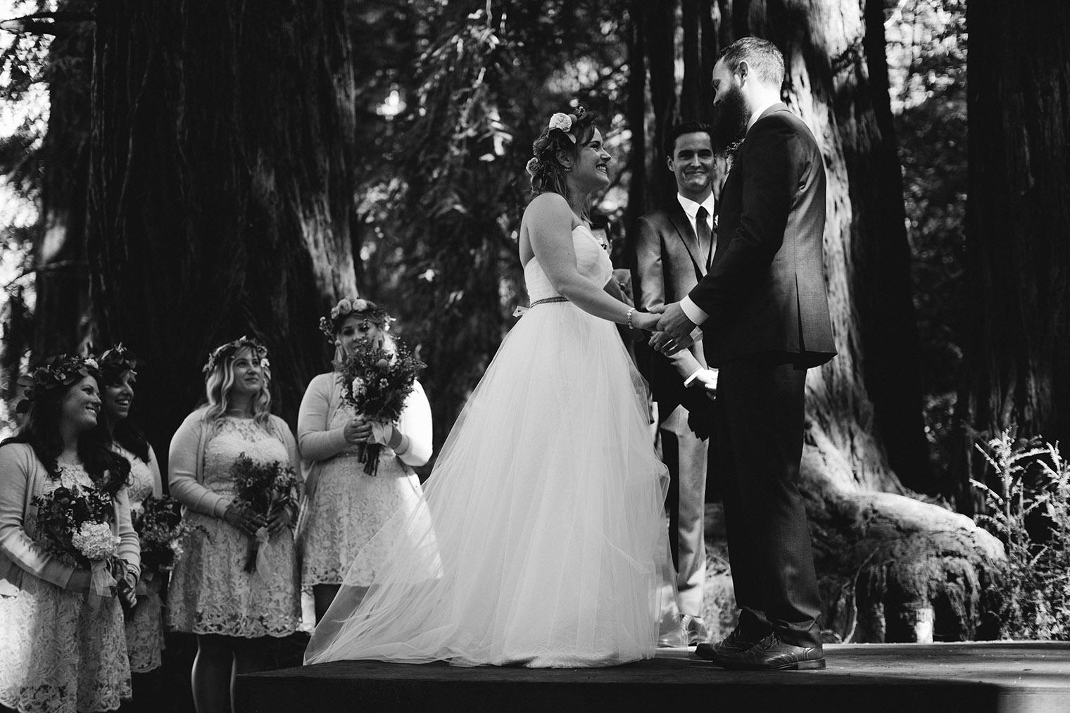 ovy camp wedding ceremony bw_147