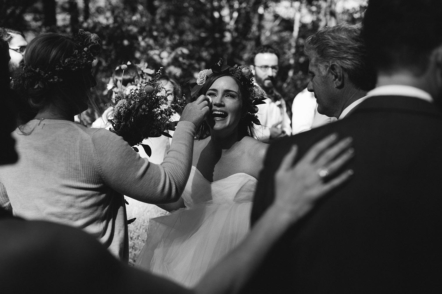 ovy camp redwood wedding ceremony