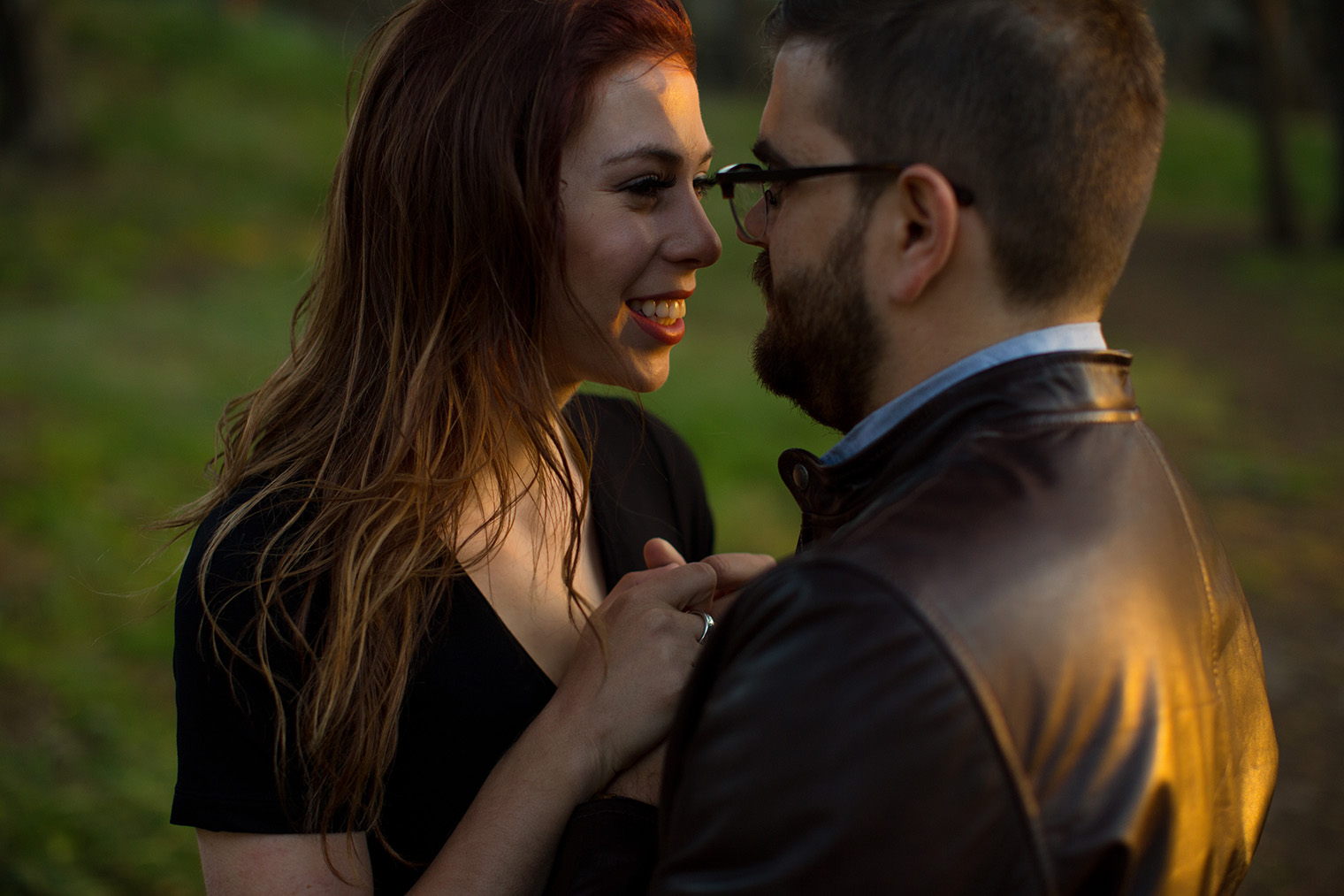 presidio engagement session at sunset