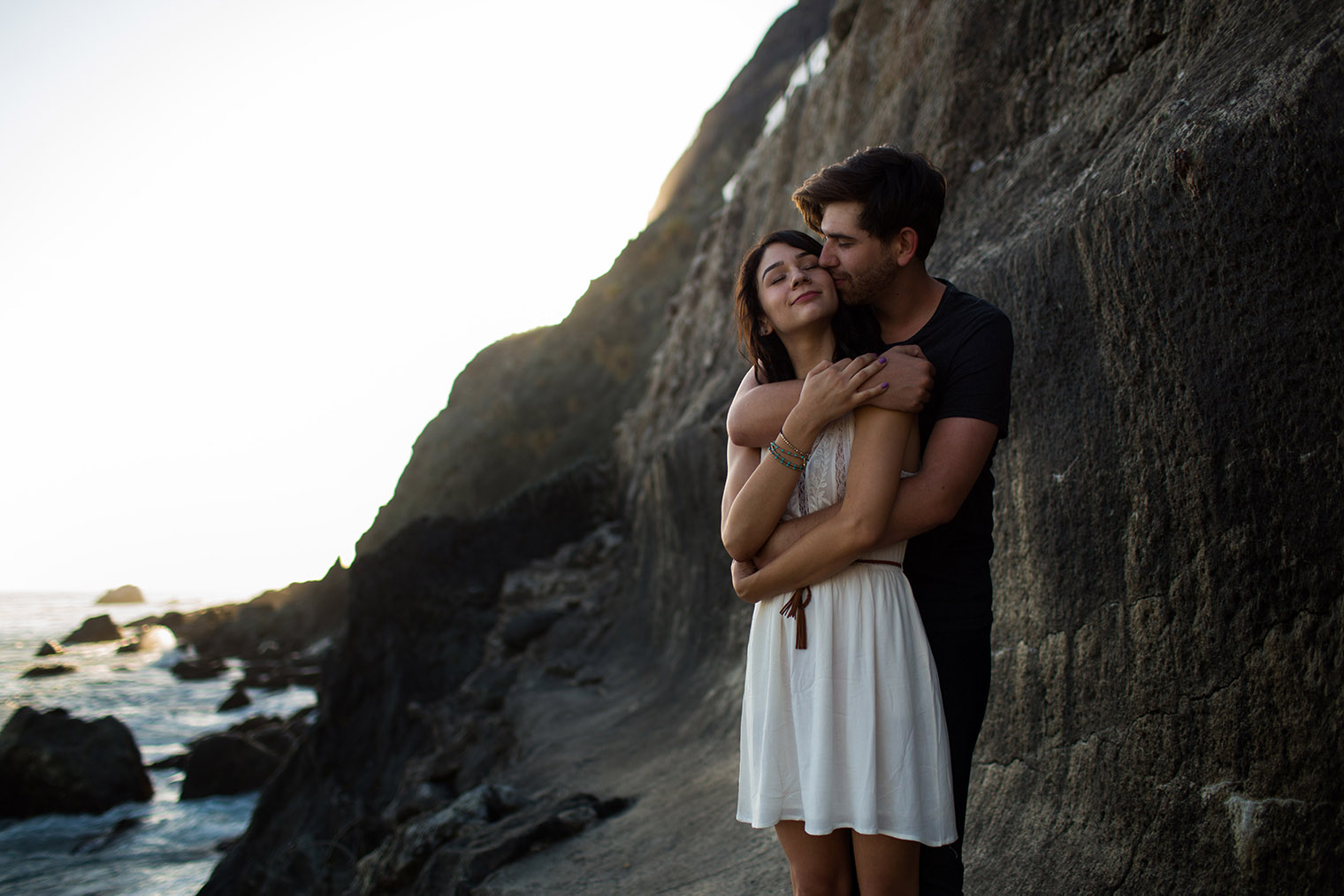 engagement photos at big sur