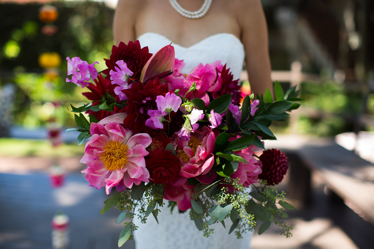 wedding details at Happy Trails Cafe & Garden