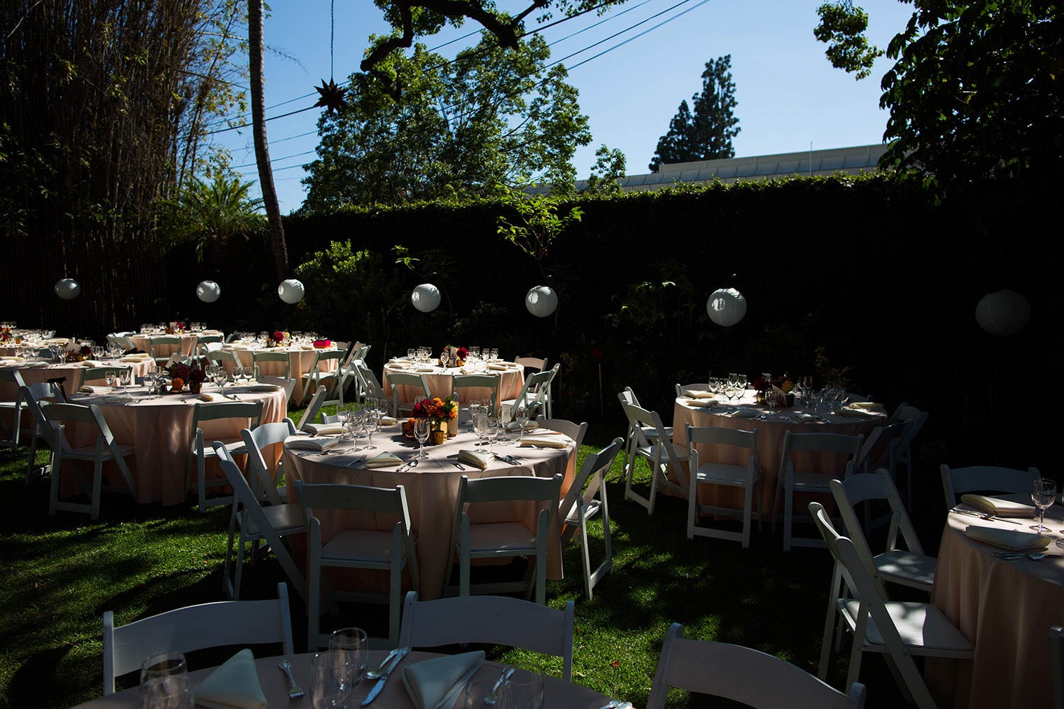 reception at Happy Trails Cafe & Garden
