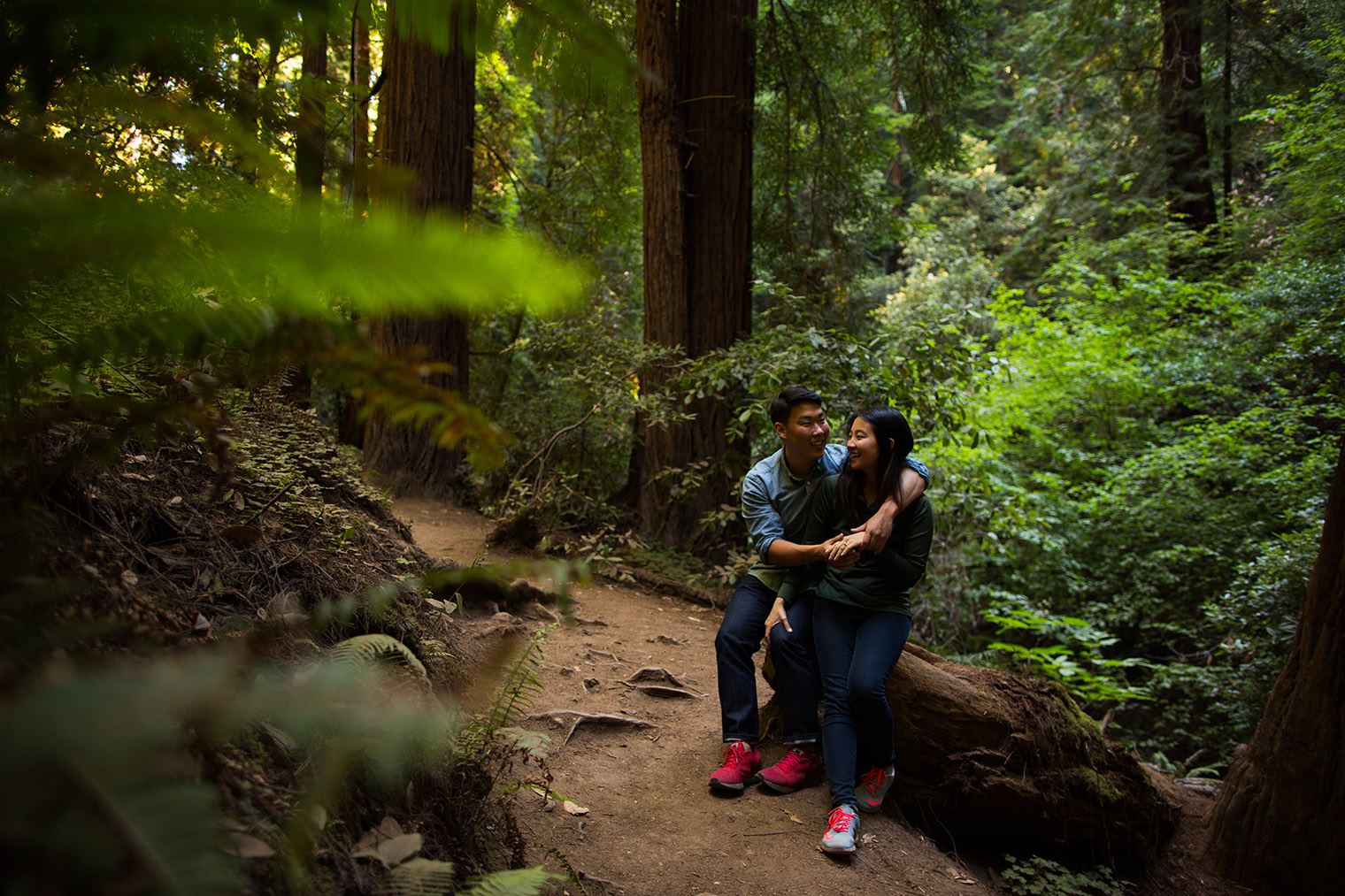 engagement session at muir woods