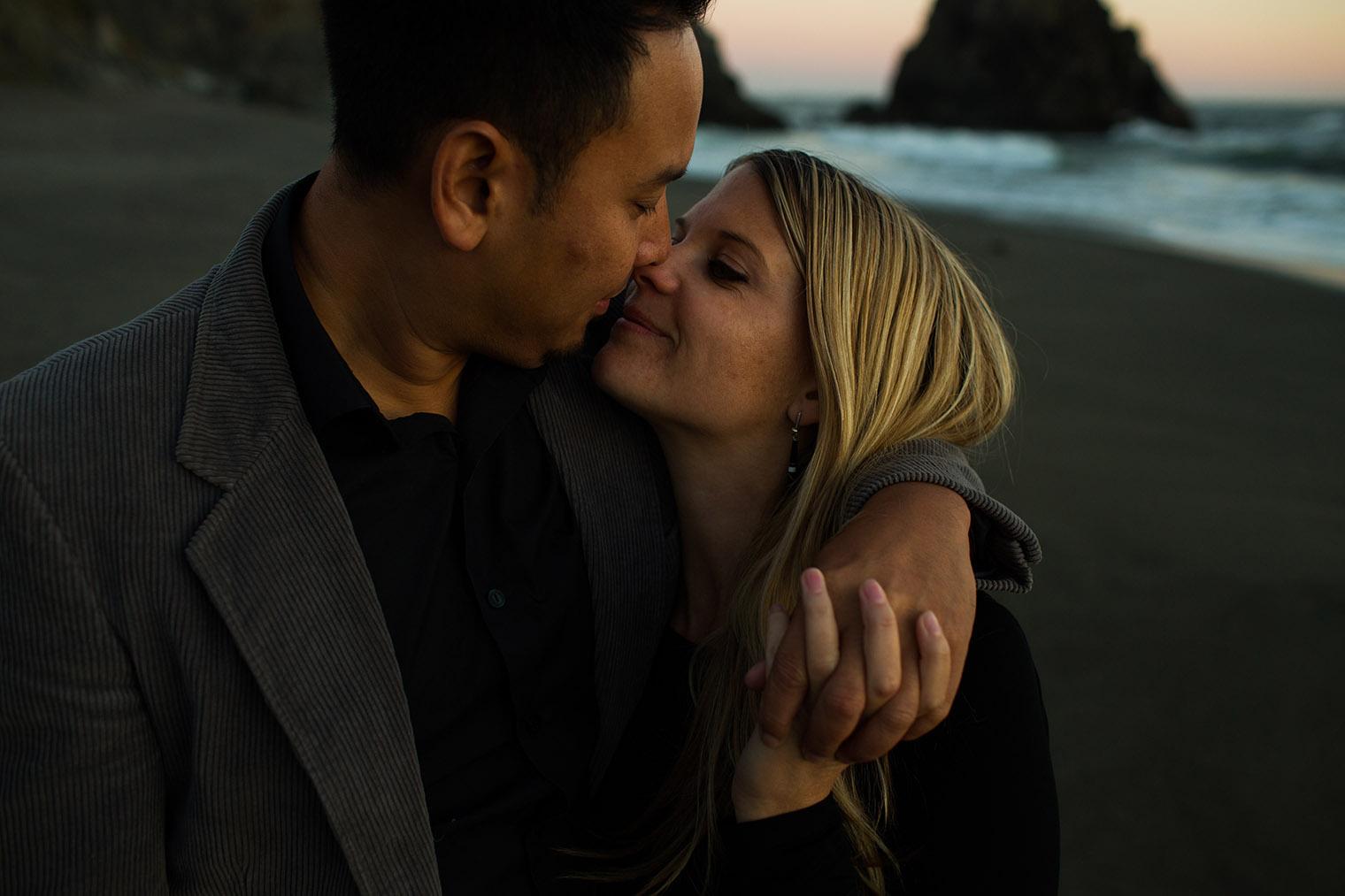 wedding photographer at sonoma coast state park