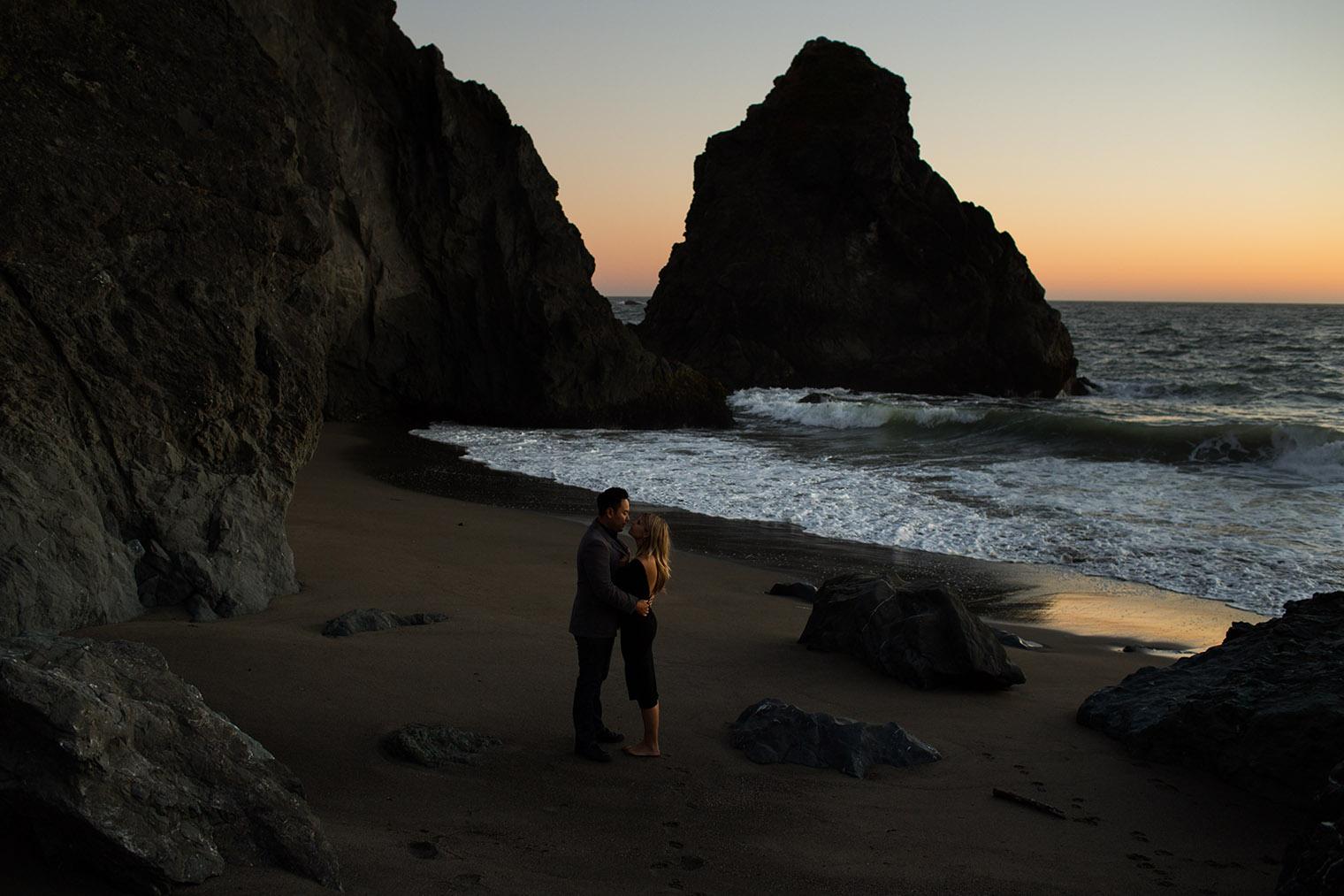 sonoma coast state park engagement photos