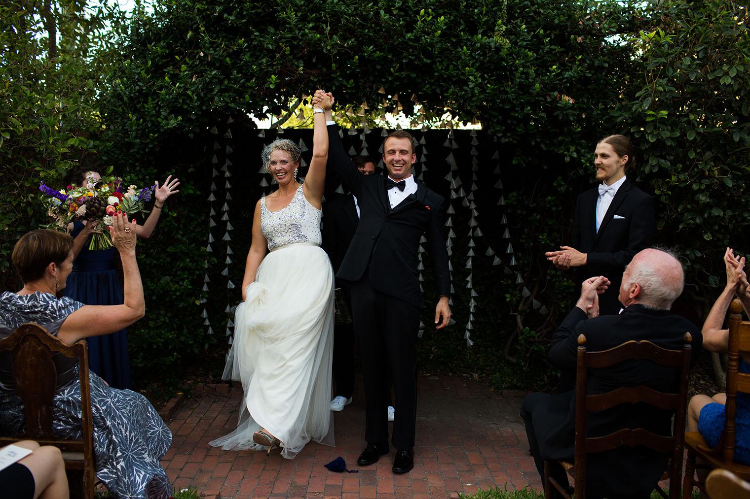 Backyard Savannah Georgia Wedding