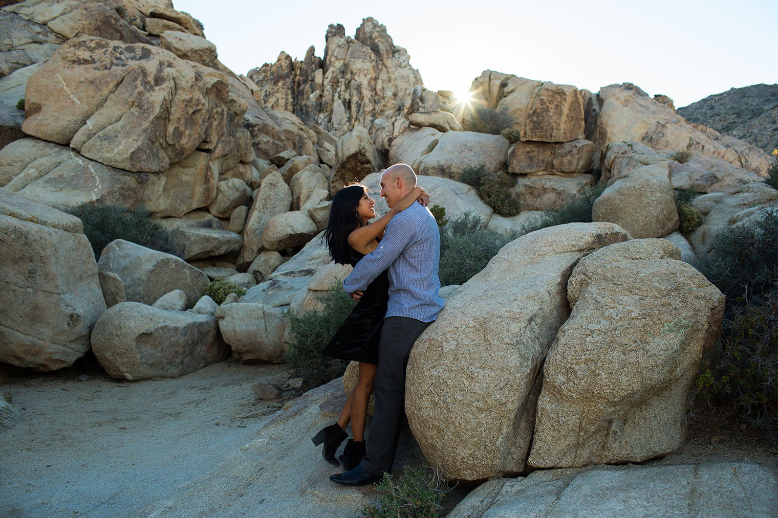 Joshua Tree National Park Engagement Photos