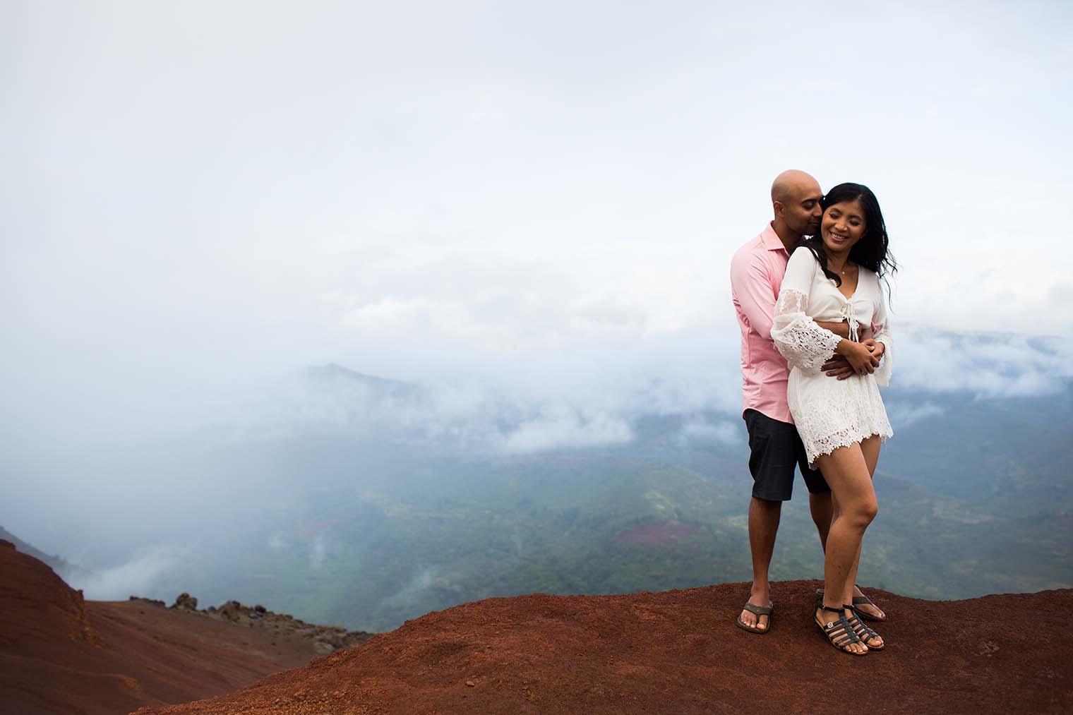Engagement Session at Waimea Canyon Kauai Hawaii