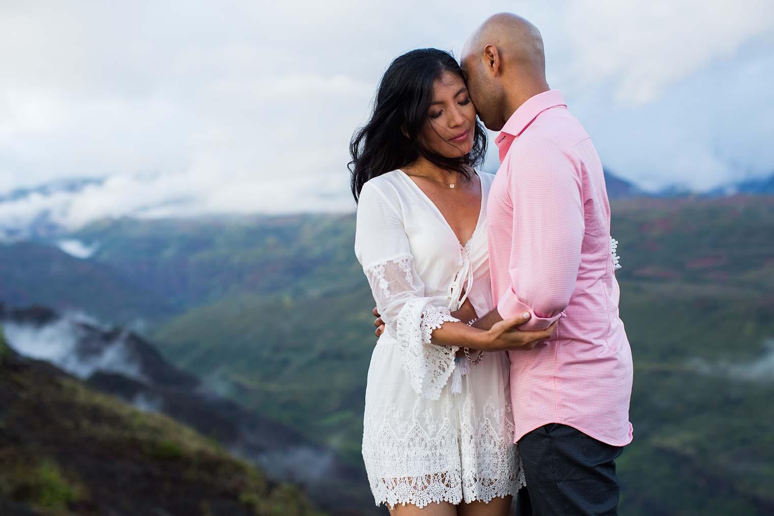 Engagement Photos at Waimea Canyon Kauai Hawaii