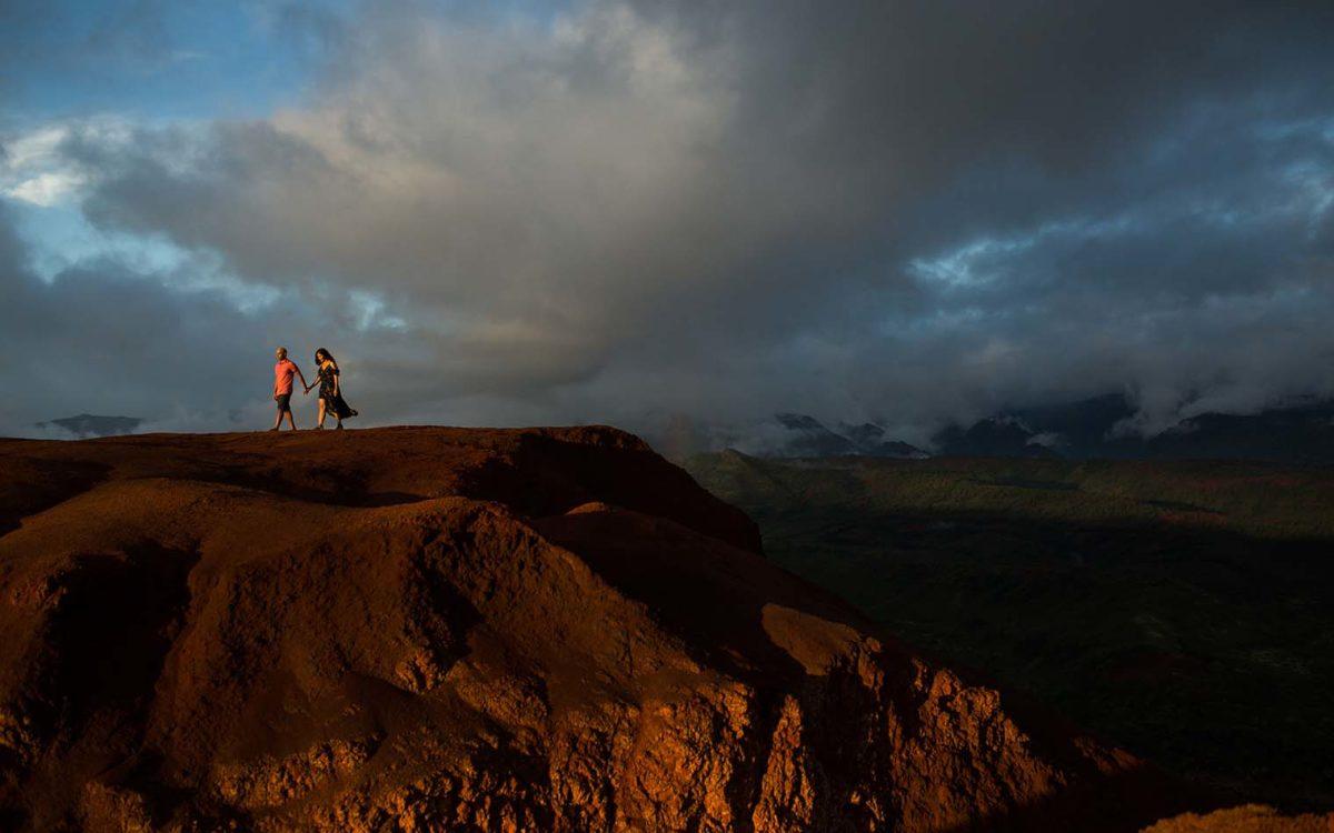Waimea Canyon Kauai Hawaii Engagement Session
