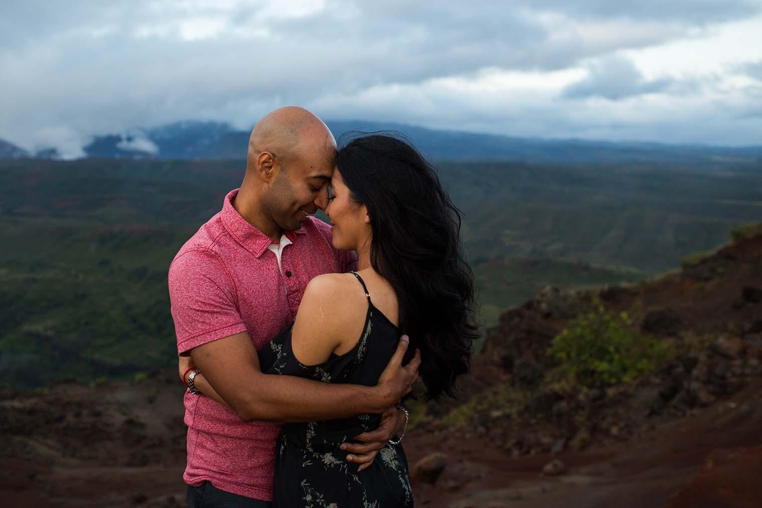 Engagement Photos at Waimea Canyon in Kauai, Hawaii