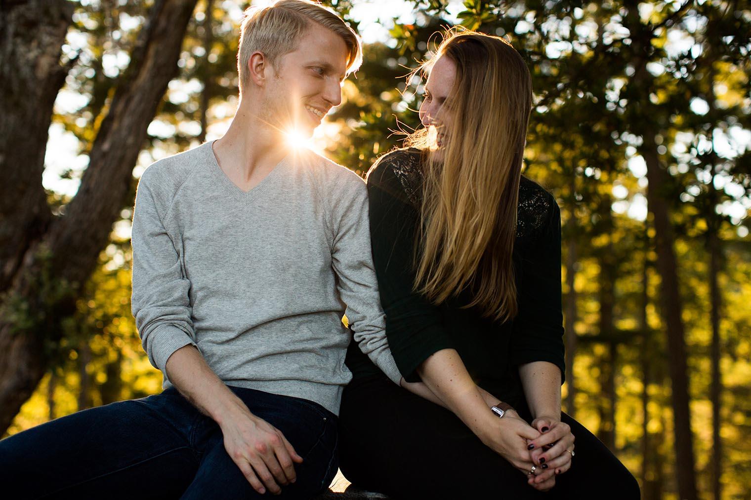 Sunset engagement photos at Mount Tamalpais State Park