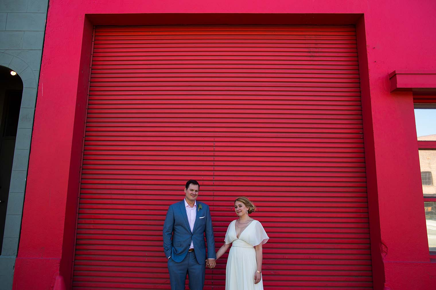 Bride and Groom portraits at The Pearl