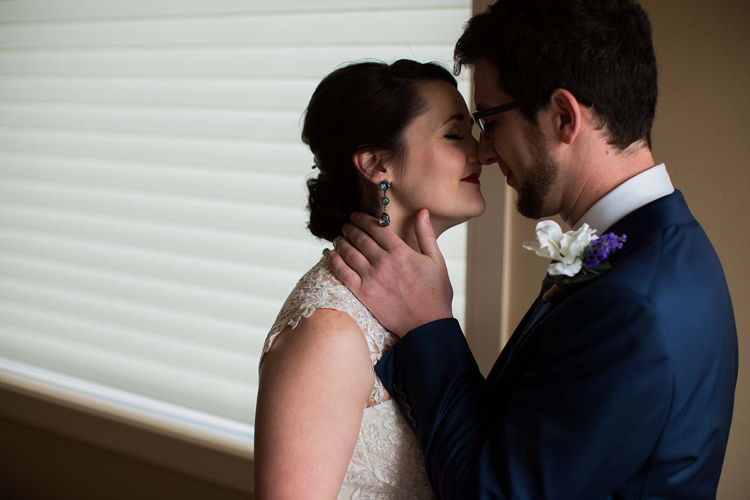 Bride and Groom Portraits by Wenatchee Wedding Photographer