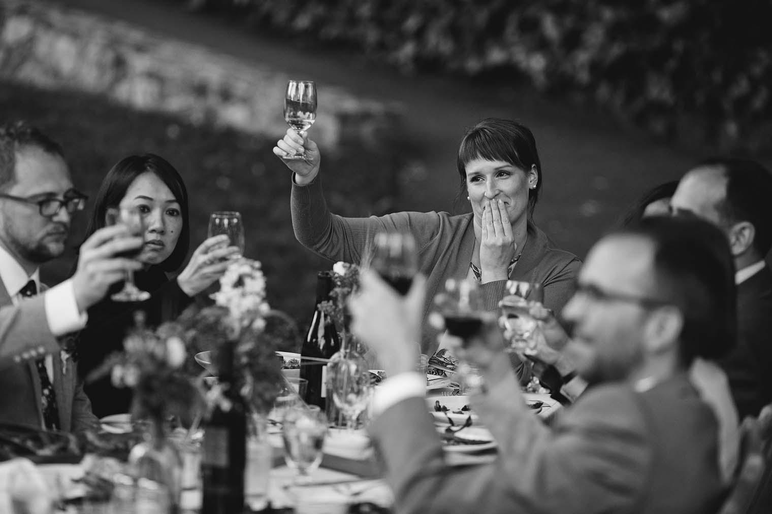 Wedding Toasts at Westerbeke Ranch in Sonoma, CA