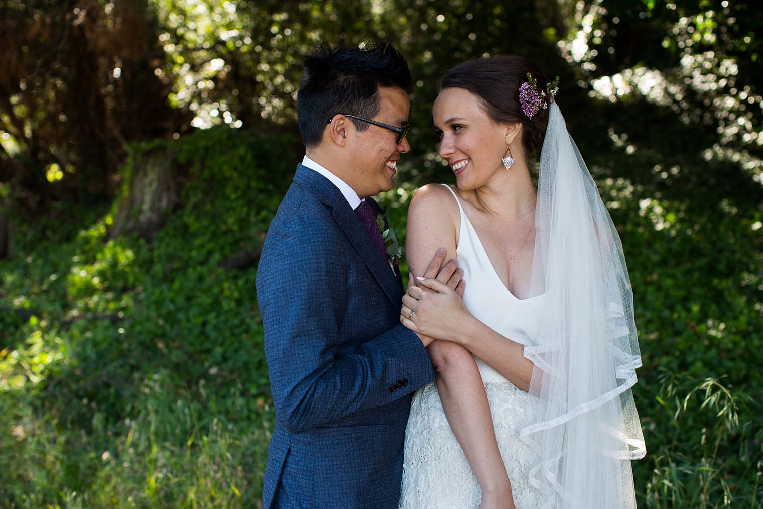 bride and groom portraits at jack london state historic park
