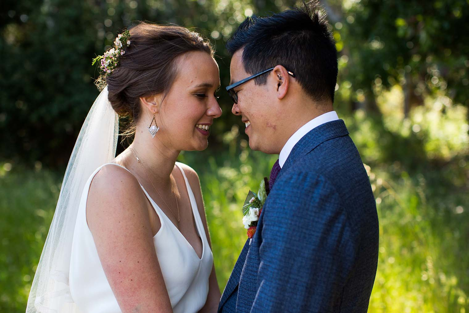 wedding day photos at jack london state historic park