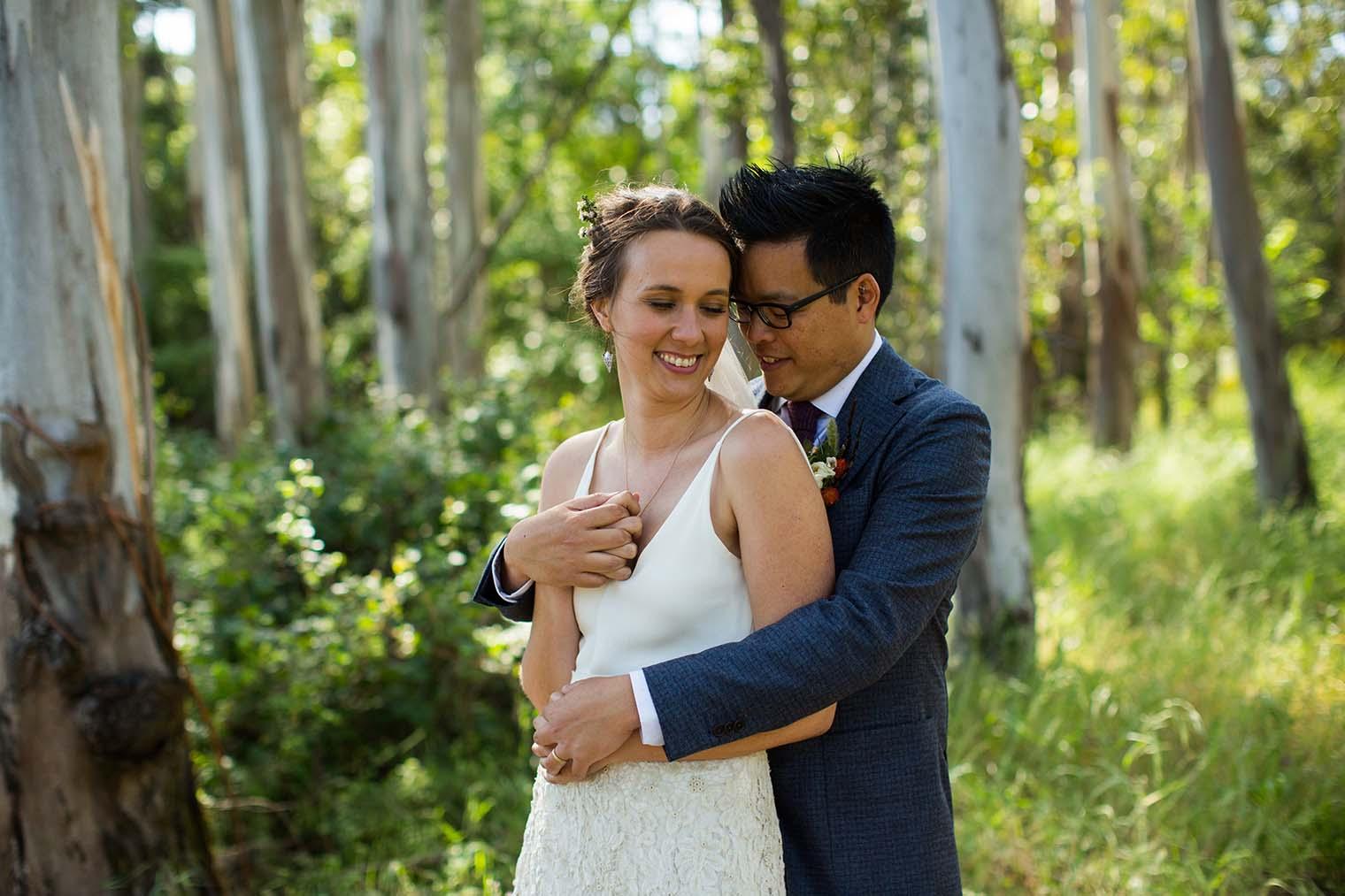 Bride and Groom at Westerbeke Ranch