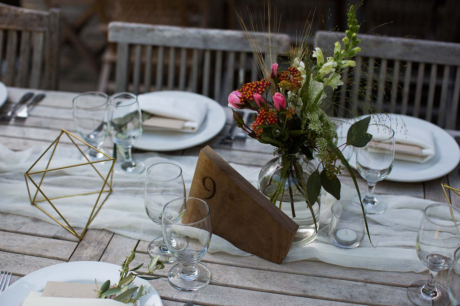 Wedding Reception Details at Westerbeke Ranch