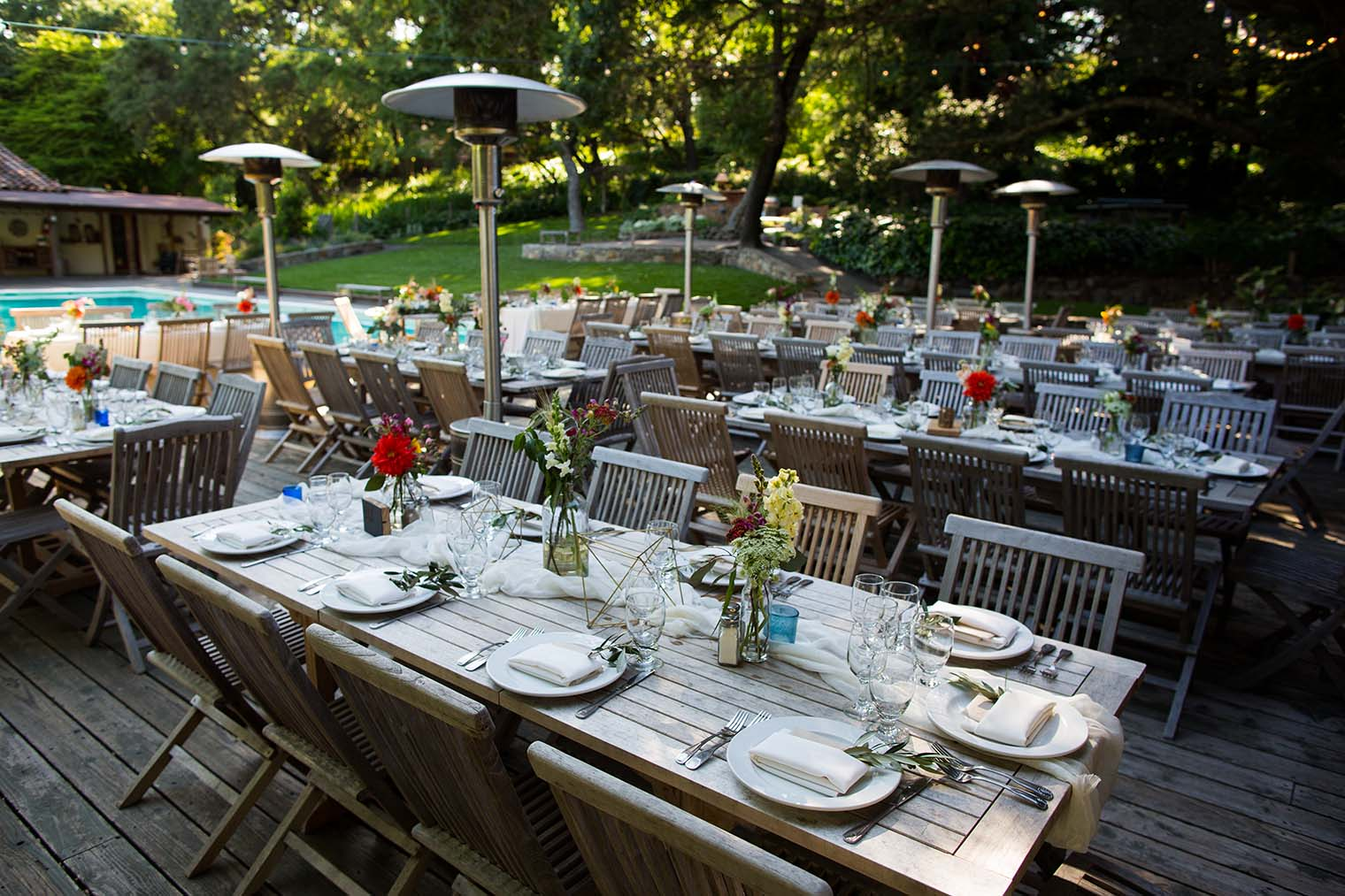 Wedding Reception Details at Westerbeke Ranch in Sonoma